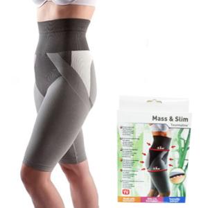 Mass N Slim กางเกงกระชับสัดส่วน แบบขาสั้น – สีเทา (มี size S, M, L)