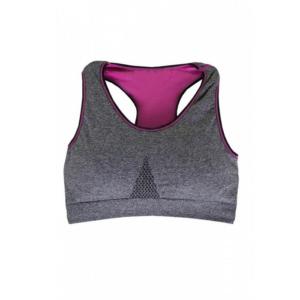 ชุดชั้นใน Sport Bra Double Layer กระชับสัดส่วน – สีเทา/ชมพู (Size S,M)
