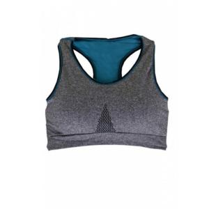 ชุดชั้นใน Sport Bra Double Layer กระชับสัดส่วน สวมใส่สบาย – สีเทา/ฟ้า (Size S)