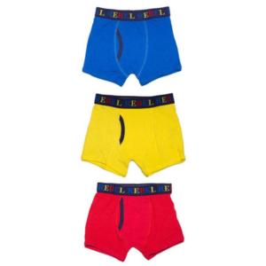 กางเกงในเด็กสำหรับเด็ก 4-5 ปี Set 3 ชิ้น – สีแดง/เหลือ/น้ำเงิน