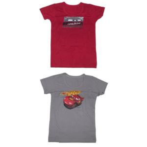 เสื้อผ้าสำหรับเด็ก ลายการ์ตูนรถ car racing ขนาด 120 CM ( 1 เซต มี 2 ชิ้น )