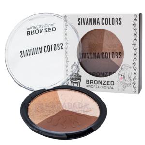 บรอนเซอร์ หน้าเรียว ไฮไลท์หน้ามีมิติ Sivanna Colors Bronzed Professional No.01