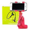 Phone Holder ตัวหนีบมือถือ ปรับระดับได้ แบบตั้งโต๊ะ  – สีแดง