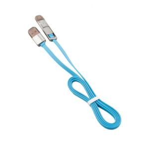สายชาร์จ สายเคเบิ้ล ไอโฟน ยูเอสบี USB 2 in 1 สำหรับ iPhone- สีฟ้า