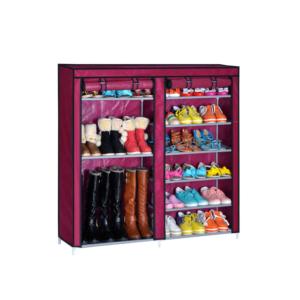 Shoe Cabinet ตู้รองเท้า ตู้เก็บรองเท้า ชั้นวางรองเท้า – สีชมพูเข้ม