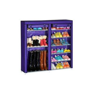 Shoe Cabinet ตู้รองเท้า ชั้นวางรองเท้า ตู้เก็บรองเท้า  – สีม่วงเข้ม