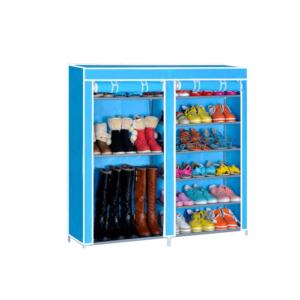 Shoe Cabinet ตู้รองเท้า ชั้นวางรองเท้า ตู้เก็บรองเท้า – สีฟ้า