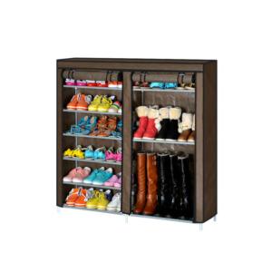 Shoe Cabinet ตู้รองเท้า ตู้เก็บรองเท้า ชั้นวางรองเท้า – สีน้ำตาล