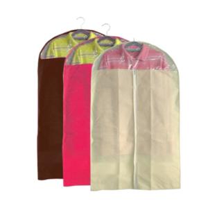 ถุงคลุมเสื้อ คลุมสูท กันฝุ่น – สีน้ำตาล/บานเย็น/ครีม (เซต 3 ชิ้น)