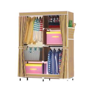 Cabinet ตู้เสื้อผ้า ตู้เก็บของเอนกประสงค์ 5 ช่อง สูง 170 cm. (Yellow/Brown)