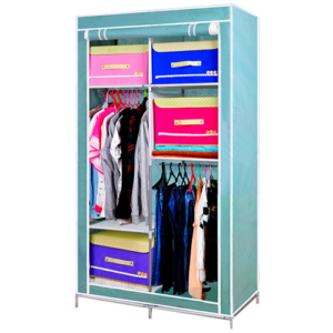 Gungni ตู้เสื้อผ้า ตู้เก็บของเอนกประสงค์ ตู้ 6 ช่อง รุ่น CModel สูง 170 cm. – สีเขียวอ่อน