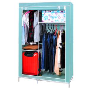 Gungni รุ่น CModel ตู้เสื้อผ้า ตู้เก็บของเอนกประสงค์ ตู้ 4 ช่อง สูง 170 cm. – สีเขียวอ่อน