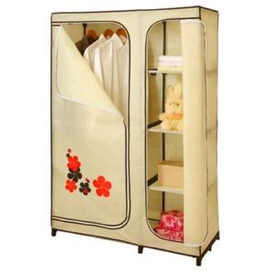 ตู้เสื้อผ้า ตู้เก็บของเอนกประสงค์ ตู้ 5 ช่อง cabinet สูง 160 cm. (Yellow/Cream)