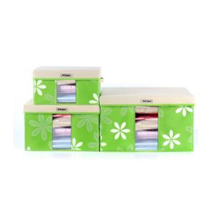 Getzhop กล่องผ้า กล่องเอนกประสงค์ Set 3 ชิ้น 3 ขนาด –(G)