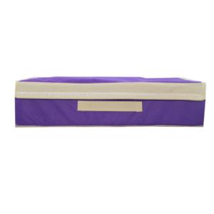 กล่องผ้าใส่ชุดชั้นใน กล่องเสื้อผ้า ยกทรง กล่องเก็บชั้นใน – สีม่วง