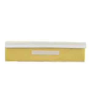 กล่องผ้า กล่องใส่ชุดชั้นใน กล่องเสื้อผ้า ยกทรง กล่องเก็บชั้นใน – สีเหลือง