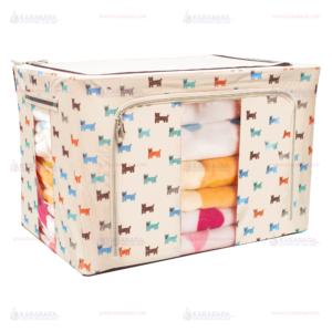 กล่องผ้า กล่องเอนกประสงค์ Multipurpose boxes ลายสุนัข