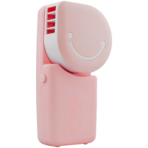 GetZhop พัดลมมือถือ พัดลมแอร์พกพา Hand-held เชื่อมต่อ USB (Pink)