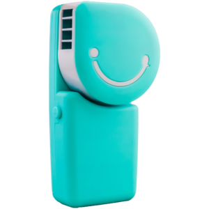 GetZhop พัดลมมือถือ พัดลมแอร์พกพา Hand-held เชื่อมต่อ USB (Blue)