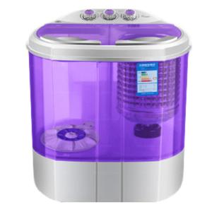 GetZhop เครื่องซักผ้าฝาบน Washing Machine แบบ 2 ถัง ขนาด 4 Kg. รุ่น XPB40-1288S – (สีม่วง)