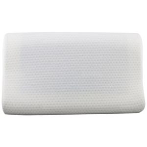 หมอนหนุน หมอนสุขภาพ Pillow case Wave Point พร้อมเจลเย็น จุดทอง Cool Gel  (White)