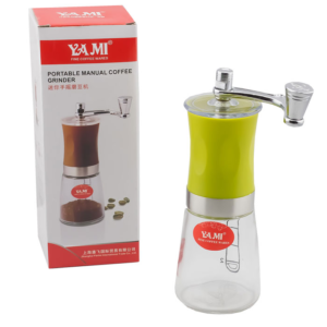 YAMI เครื่องบดกาแฟ Coffee Grinders Glass แบบมือหมุน – Green