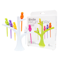 Birdie Fruit fork Wooden Spoon Sticks  DIY ที่จิ้มผลไม้ – สีขา...