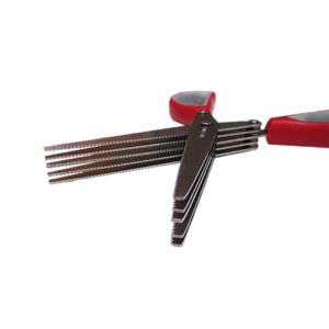 Karabada กรรไกรตัดผัก หั่นผัก ตัดผักเป็นฝอย แบบ 5 ใบมีด – สีแดง