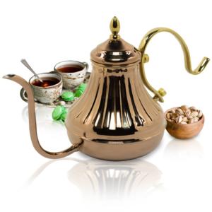 GetZhop กาน้ำ กาน้ำชา ทรงจินนี่ Tea pot ขนาด 450 CC. Yami รุ่น YM-8151 (สีทอง)