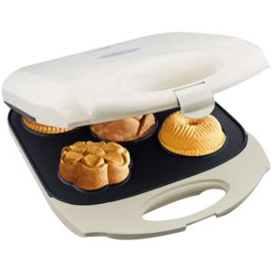 GetZhop เครื่องทำโดนัท เครื่องอบขนม Donut Maker ลายดอกไม้ รุ่น TSK-2187MF2 (Cream)