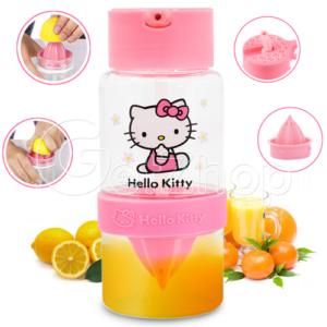 Kitty ขวดคั้นน้ำผลไม้ แบบพกพา สีชมพู