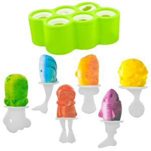 GetZhop แม่พิมพ์ทำไอศครีมแท่ง 6 ช่อง รูปสัตว์ – (Green)
