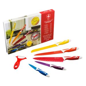 GetZhop ชุดมีดสแตนเลส Set 6 ชิ้น มีดปลอกผลไม้ Kitchenline Switzerland  รุ่น KL-06