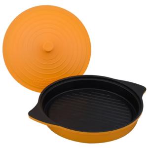 GetZhop กระทะเซรามิก ก้นแบน รุ่น My Cook ( Orange)