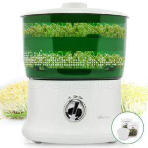 Bear เครื่องปลูกถั่วงอก เพาะเมล็ดธัญพืช ขนาด 1.8 ลิตร รุ่น DYJ-A02A1 – สีเขียวขาว