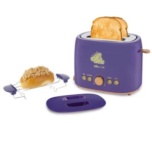 GetZhop เครื่องปิ้งขนมปัง ขนมปังปิ้ง แบบ 2 ชิ้น Bear รุ่น  DSL-A20J1 กำลังไฟ 680 watt (Purple)