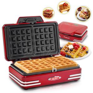 Nostalgia Waffle Maker เครื่องทำวาฟเฟิล รุ่น NT005 (Red)