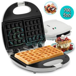 Getzhop เครื่องทำวาฟเฟิล เครื่องอบขนม Waffle Maker ALASKA-626(สีขาว)