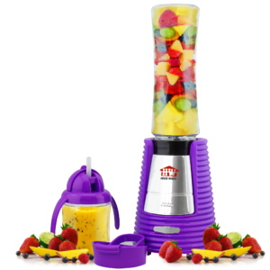 House Worth เครื่องปั่นน้ำผักผลไม้ เครื่องทำสมูทตี้พร้อมดื่ม Smoothie Blender รุ่น HW-BDS01P – (Purple)