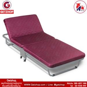 Thaibull รุ่น 2107 EZ-010 เตียงเสริมพับได้ พร้อมเบาะรองนอน เตียงเหล็ก มีล้อ (190x75x37 cm.) 2107 EZ-010 (Red)