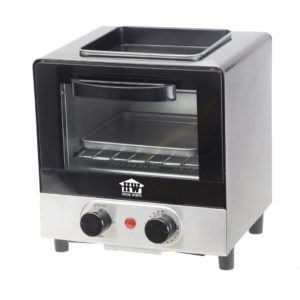 HOUSE WORTH เครื่องทำอาหารเช้า เตาอบ 6 ลิตร กระทะทอดอาหาร เตาอบอเนกประสงค์ รุ่น HW-B005