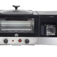 HOUSE WORTH เครื่องทำอาหารเช้า เตาอบ เตาอเนกประสงค์ 10 ลิตร เครื่องชงกาแฟ ทอดอาหาร รุ่น HW-B002C